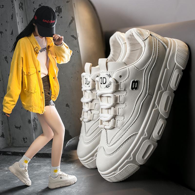 YUTIANAI小白鞋女2020春季新款韩版百搭平底板鞋女透气休闲鞋女鞋