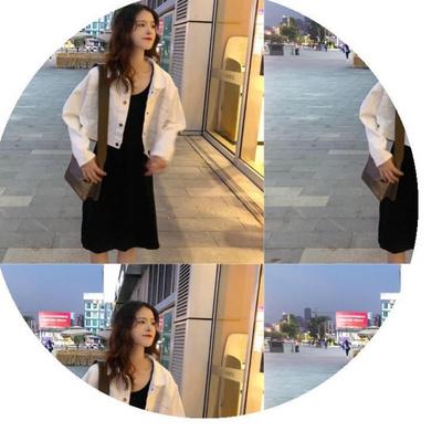 林小宅店鋪張子楓機場女裙子可愛腿粗入秋套裝韓版張子楓同款外套