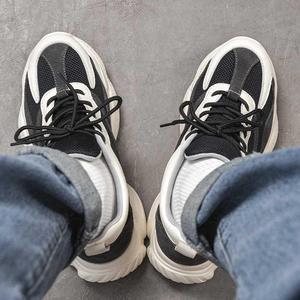 领15元券购买老爹男士2020新款增高熊猫鞋男鞋