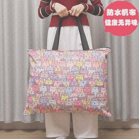 小女防水帆布被子幼儿园被褥收纳袋手提卡通装衣服的袋子可爱大号