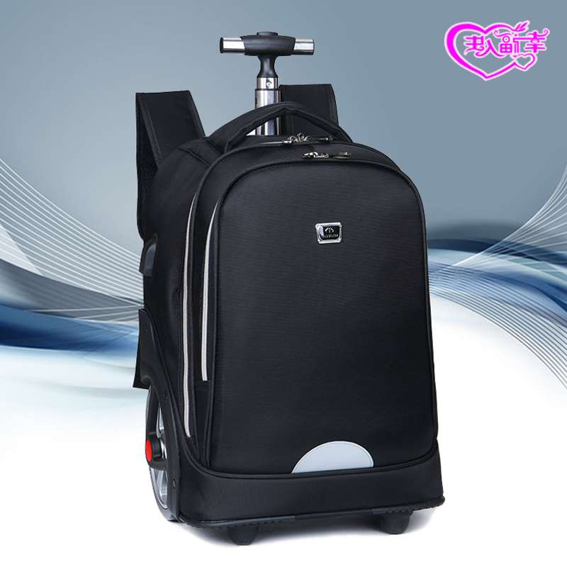 Fashion trend large wheel climbing stairs 19 inch male junior high school students pull bags drag box type traveling backpacker with wheel