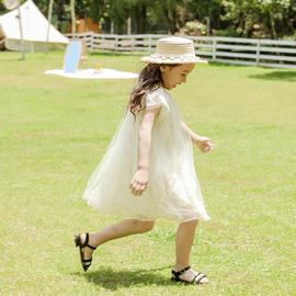 芭巴芭瑞2020夏季新款韩版女童网纱公主裙短袖女大童蓬蓬纱连衣裙图片