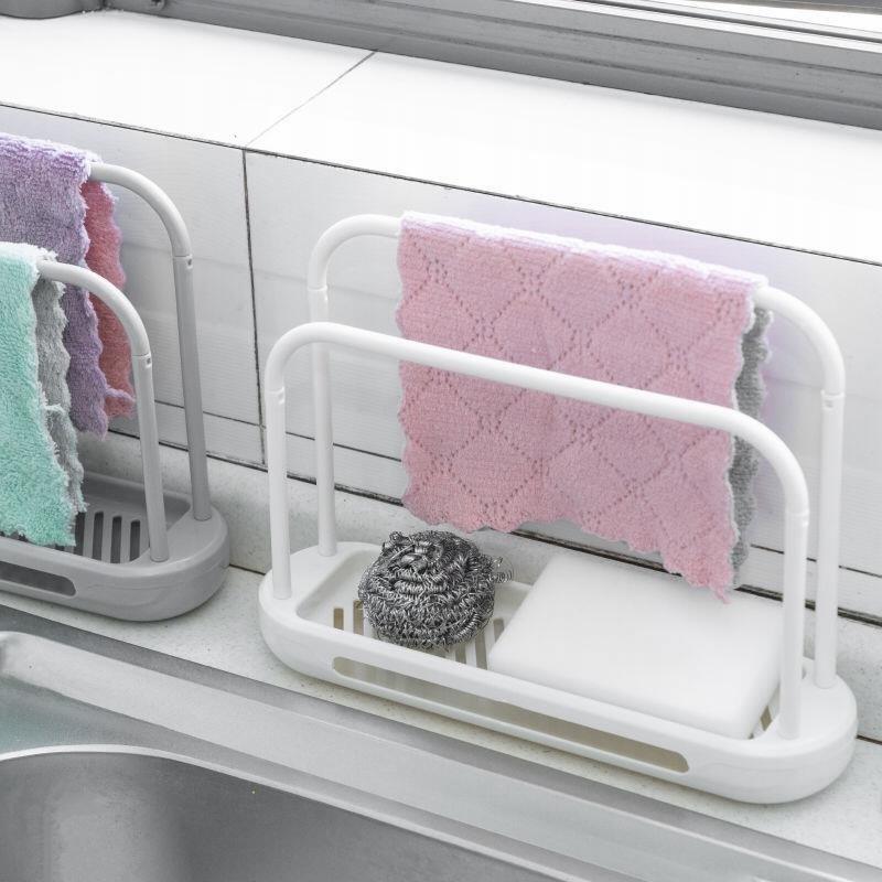 中國代購|中國批發-ibuy99|收纳清洁用品|抹布架厨房用品台面清洁沥水架水槽置物架家用海绵收纳架