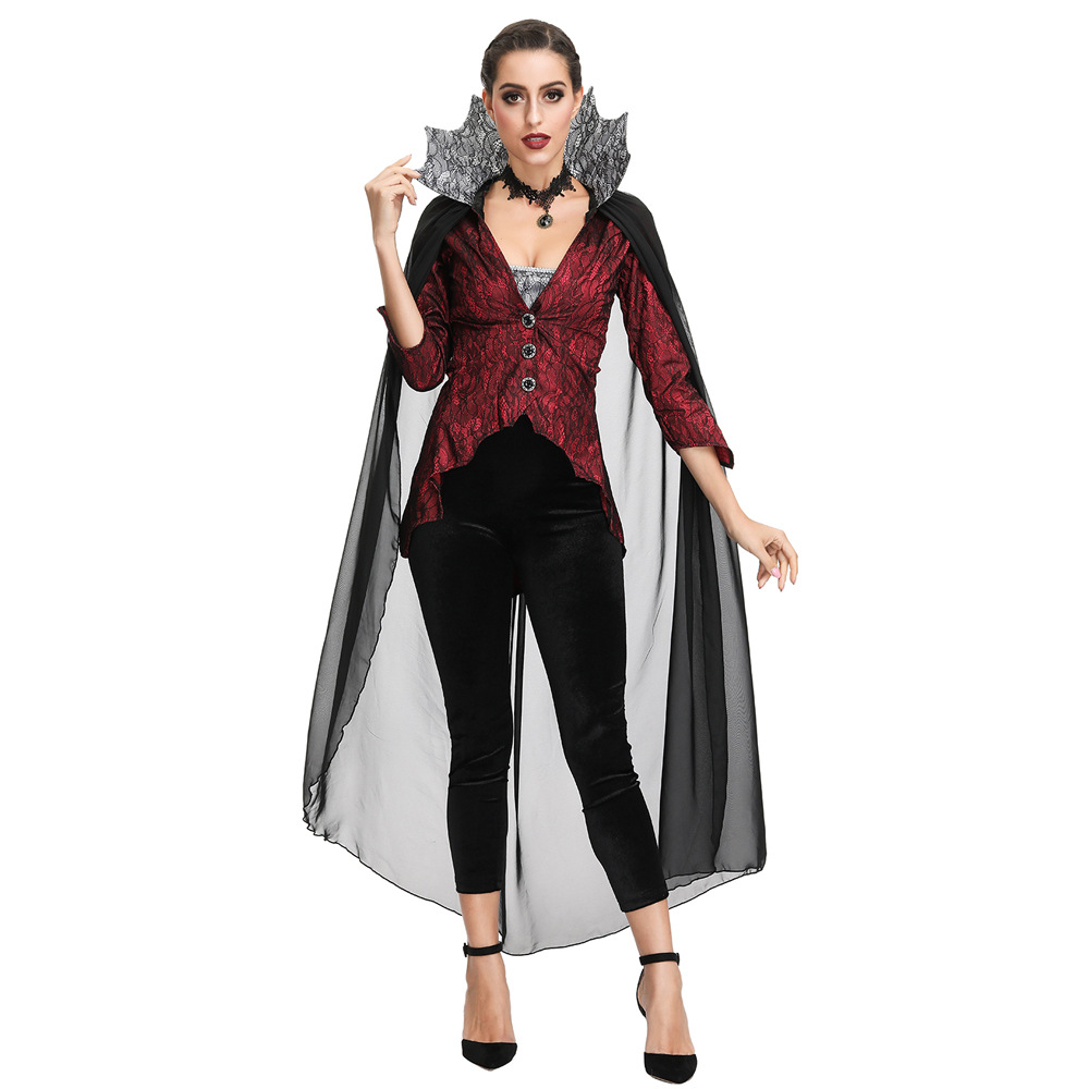 吸血恶魔王装士万圣节服装cosplay欧美角色扮演黑寡妇服饰女