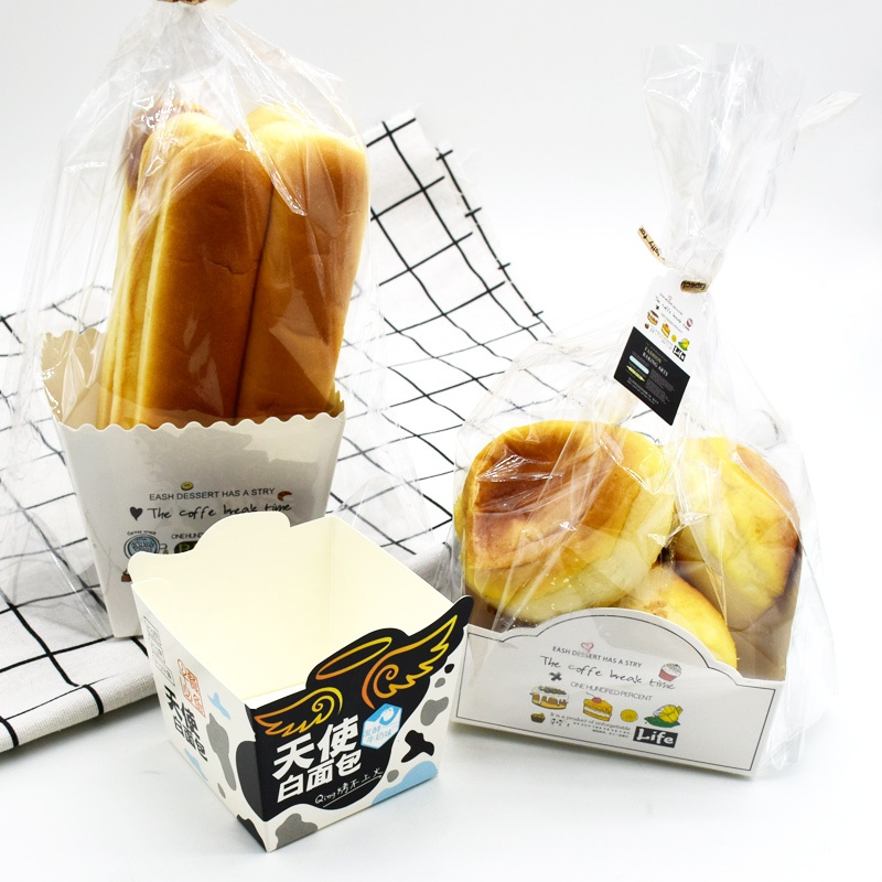 Opp meal bag packing box long bread box biscuit bag baking packaging DIY pastry French bread bag 100