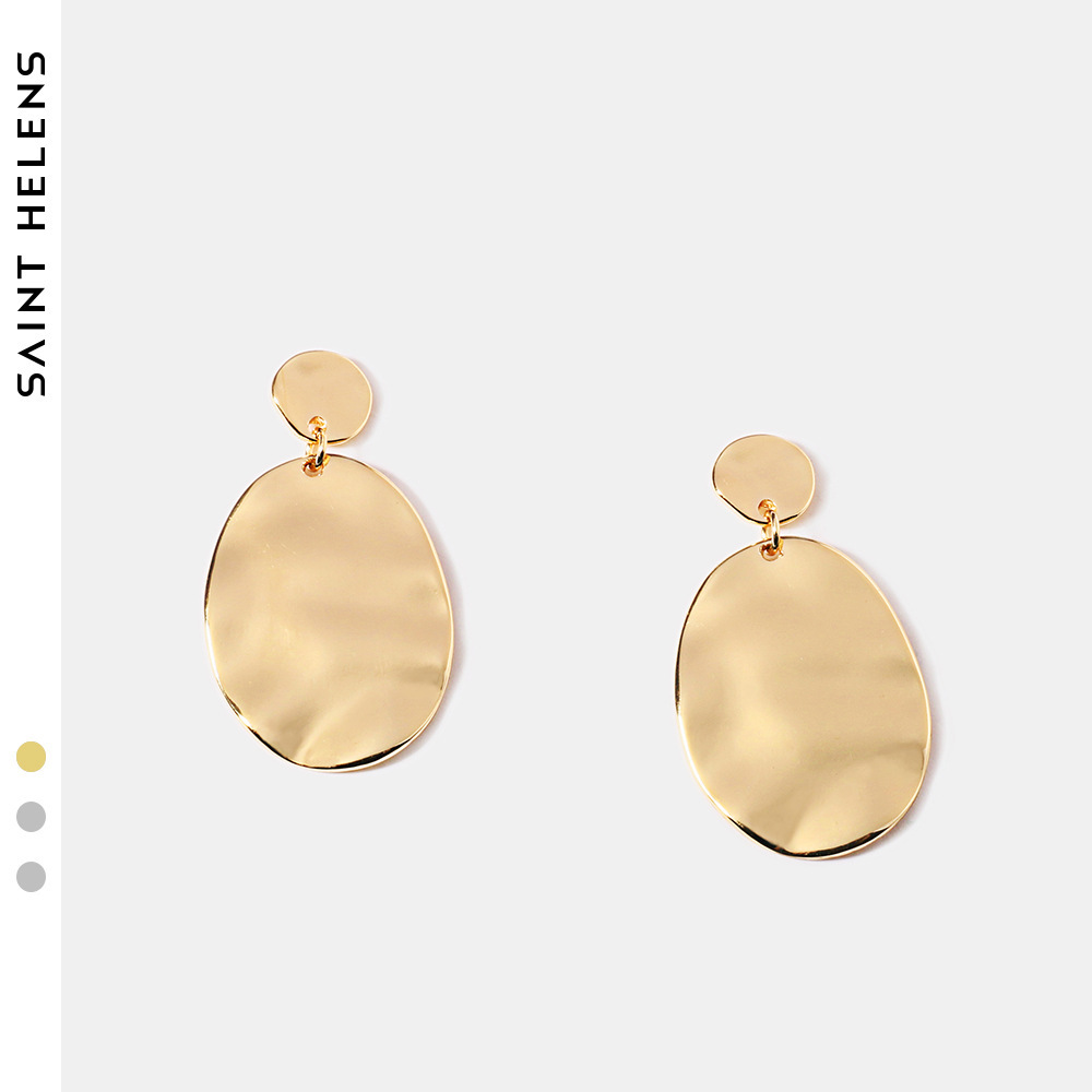 Oval exaggerated Earrings geometric Earrings European and American style simple fashion earrings NEW alloy earrings foreign trade
