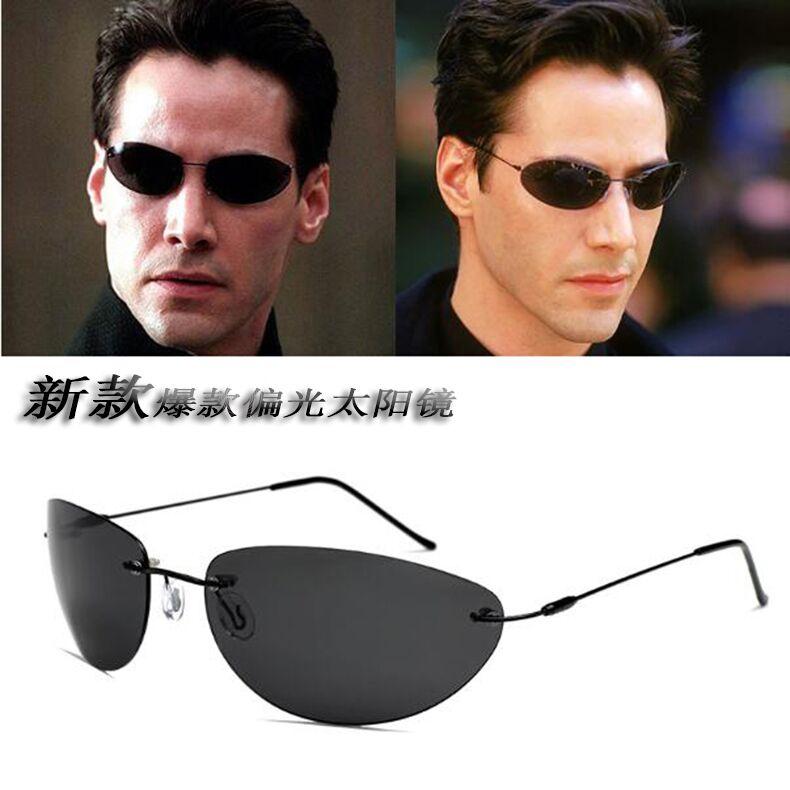 黑客帝国墨菲斯同款偏光墨镜太阳眼镜迷你眼镜钓鱼男士太阳眼镜