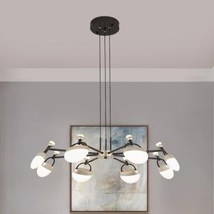 北欧客厅吊灯 现代简约 亮影系列六头LED家装灯卧室餐灯爆款灯具