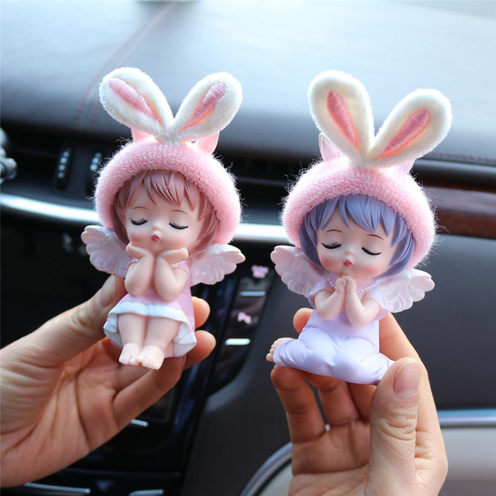 车载装饰车内出风口香薰汽车空调香水夹创意可爱安妮女车上摆件用