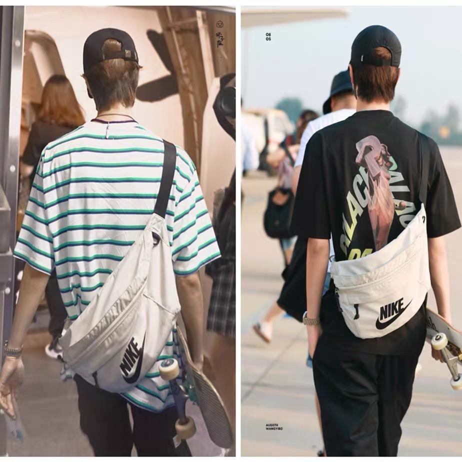 王一博同款腰包背包潮男女户外健身旅游旅行单肩斜跨休闲运动胸包