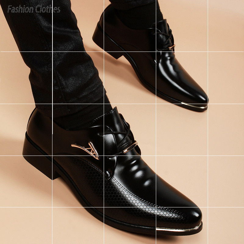Fashionable leather shoes mens Korean business formal wear inner increase casual shoes mens summer breathable sleeve foot Derby