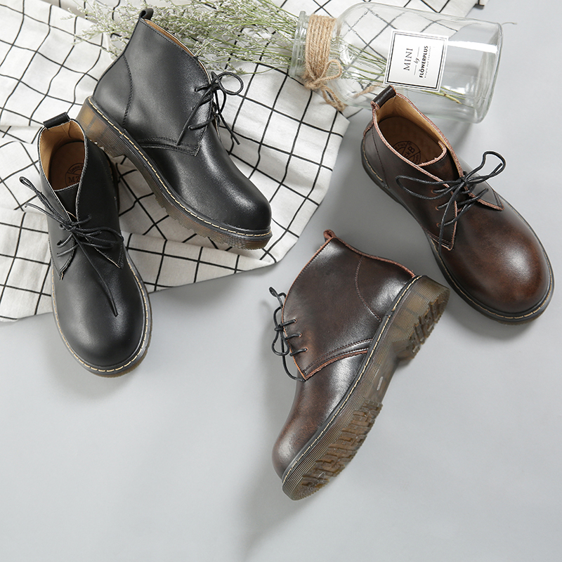 Ugly shoes Museum Vintage Martin boots British short boots academy wind and Sun Department winter and ankle boots autumn and winter