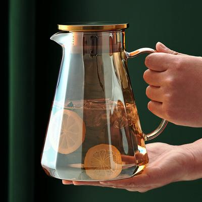 北欧冷水壶大容量耐高温玻璃凉水杯家用耐热轻奢凉水壶套装冷水杯