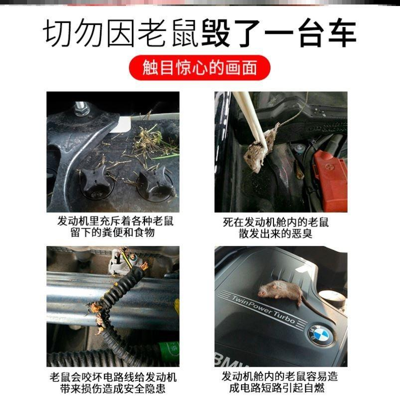 。 Anti rat device for automobile engine compartment