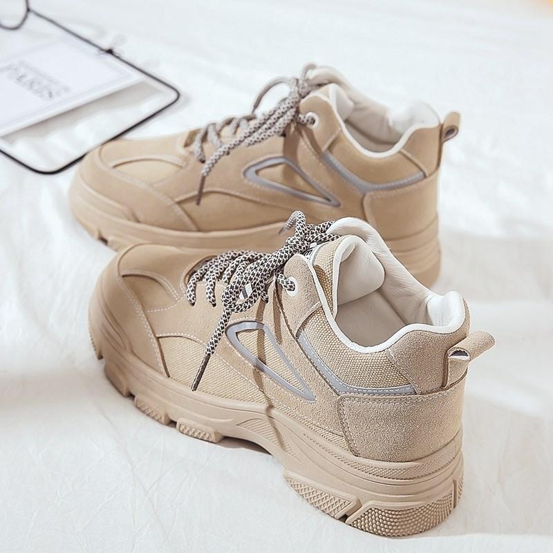老爹女鞋子新款冬鞋冬款百搭2019秋冬休闲运动鞋ins潮加绒二棉鞋