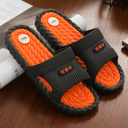 凉拖鞋男外穿夏天室内家居家用防滑浴室洗澡厚底室外拖鞋男士夏季