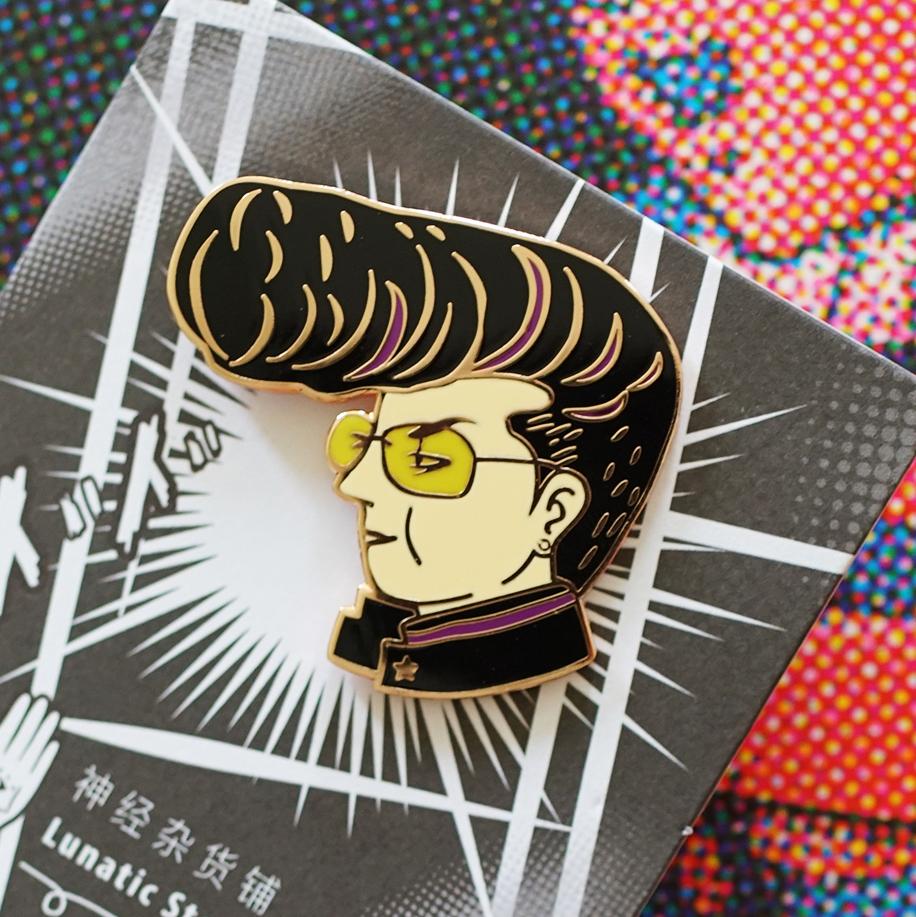 Vagabond Japanese nostalgic mobile phone ins style designer original minority personality BROOCH BADGE spot