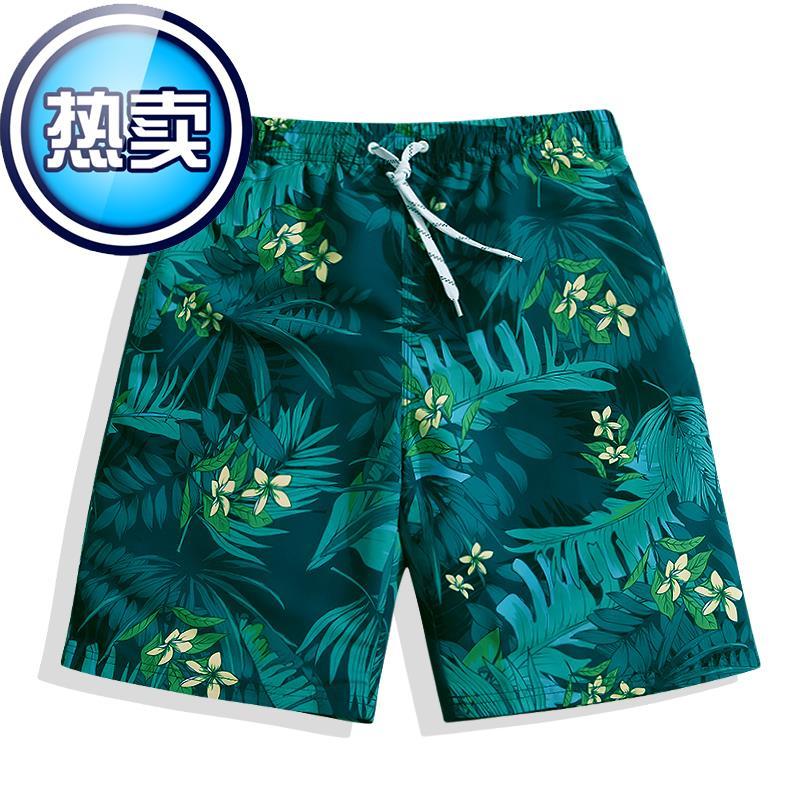 沙灘褲男女式速乾游泳褲 寬k鬆平角短褲