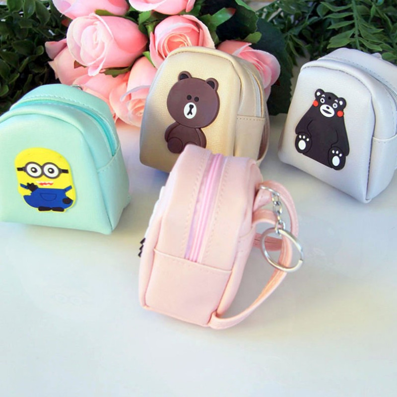 Student small wallet small mini cute small wallet schoolbag small pendant key chain childrens New Year gift coin