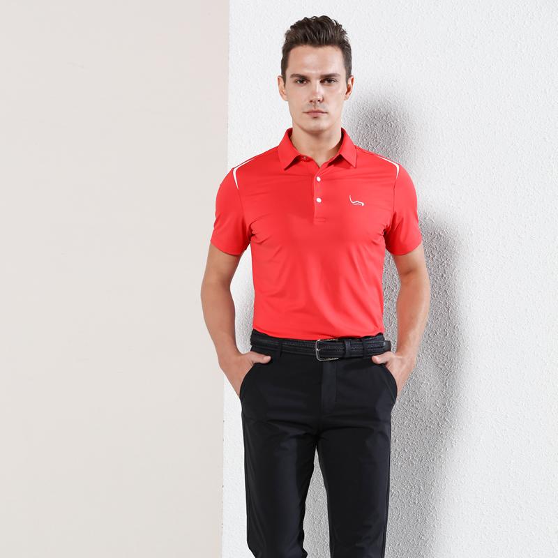 EAGEGOF新款高尔夫男装男士短袖T恤 夏季户外运动休闲翻领Polo衫