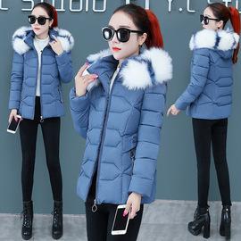 女棉衣短款2020冬季新款外套大毛领可脱卸帽子女式棉服女大码棉袄