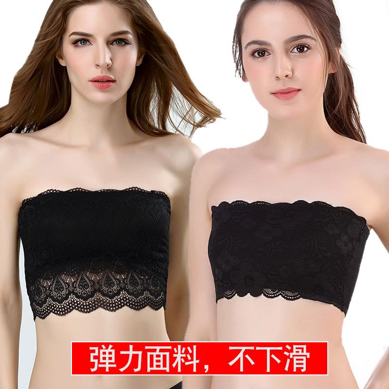 韩国女聚拢上托收副乳薄款无线内衣露卡抹胸裹胸无钢圈胸罩无肩带