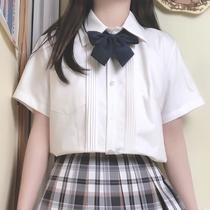【朴樱原创】jk衬衫长袖短袖风琴褶基础款日系学院风百搭白衬衣女