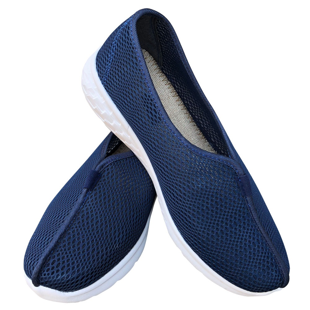 Brand summer new comfortable soft sole thickened sole mesh breathable monk shoes Luohan shoes light and cool mens and womens shoes