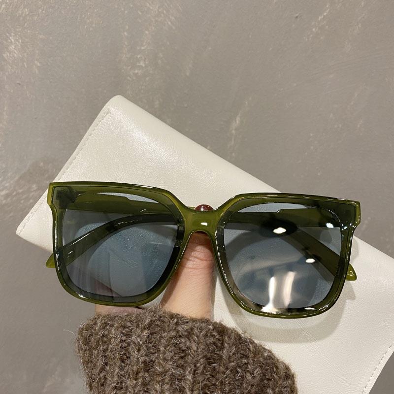Sunglasses Womens 2021 new net red large frame square Polarized Sunglasses round face sun visors anti ultraviolet moisture
