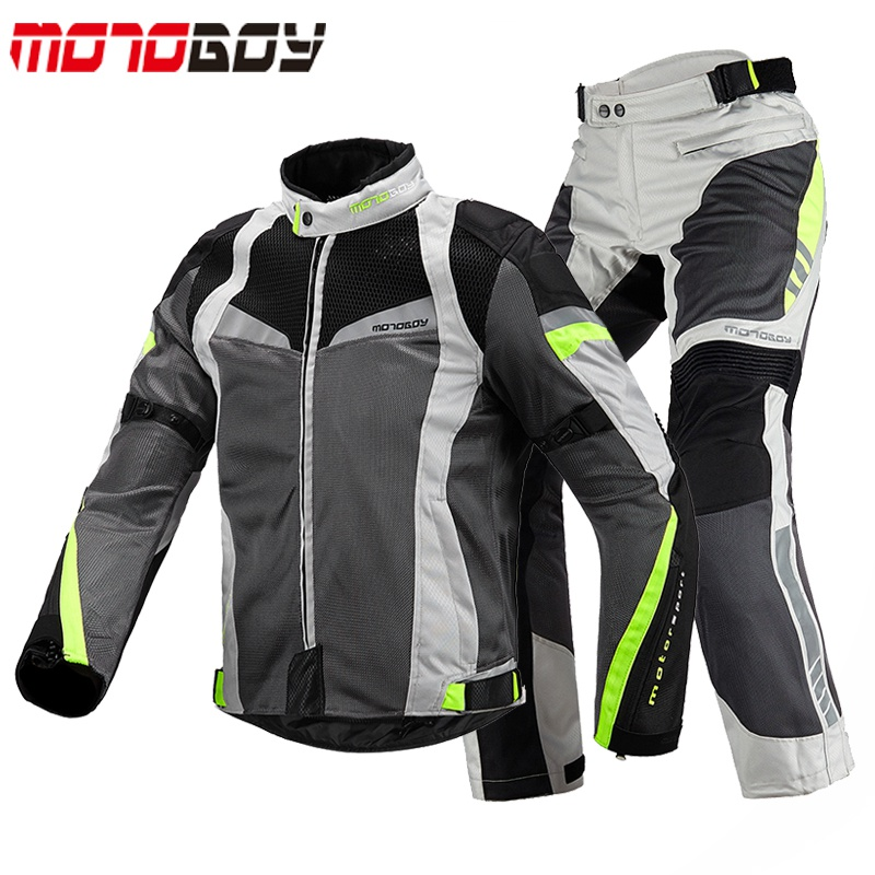 Top grade motoboy motorcycle riding suit mens summer motorcycle suit womens mesh breathable fall proof jacket