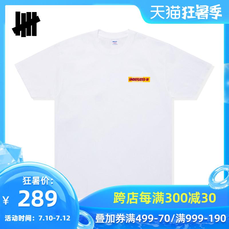 UNDEFEATED男装春夏撞色字母立体感图案印花短袖T恤80145DPE