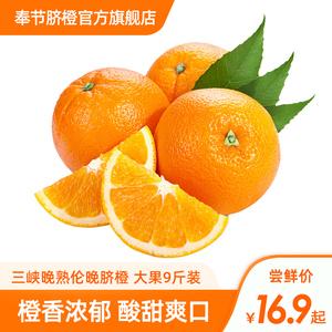 三峡晚熟伦晚当季赣南新鲜整箱脐橙
