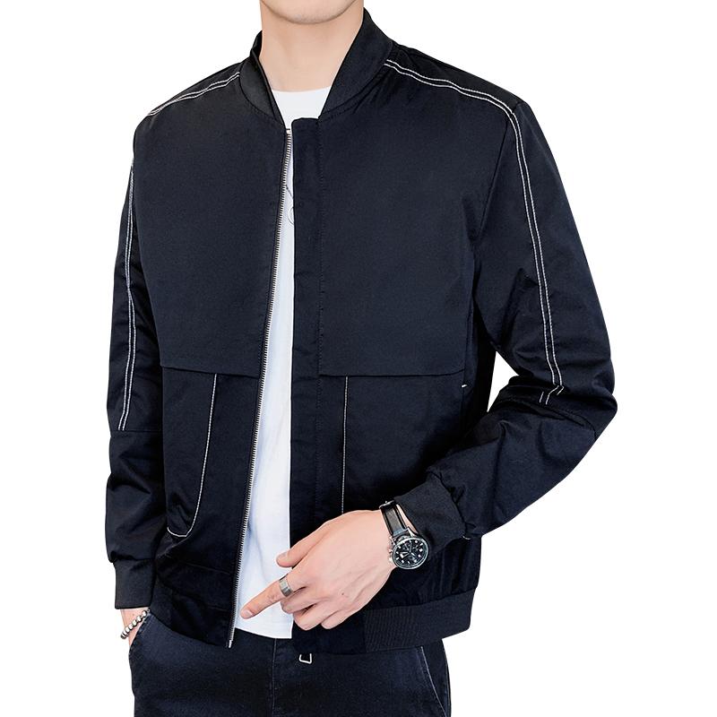 秋季新款一波购夹克男休闲外穿时尚潮流男士外套薄款棒球领上衣