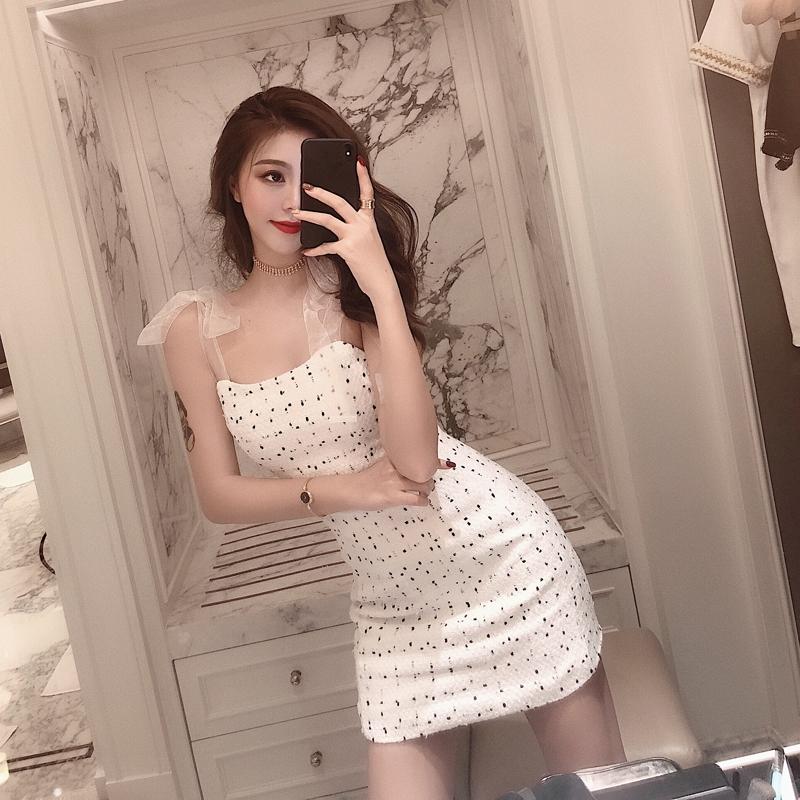 高档新新款气质很仙的裙子超仙yy直播服装女主播上镜衣服夜店吊带