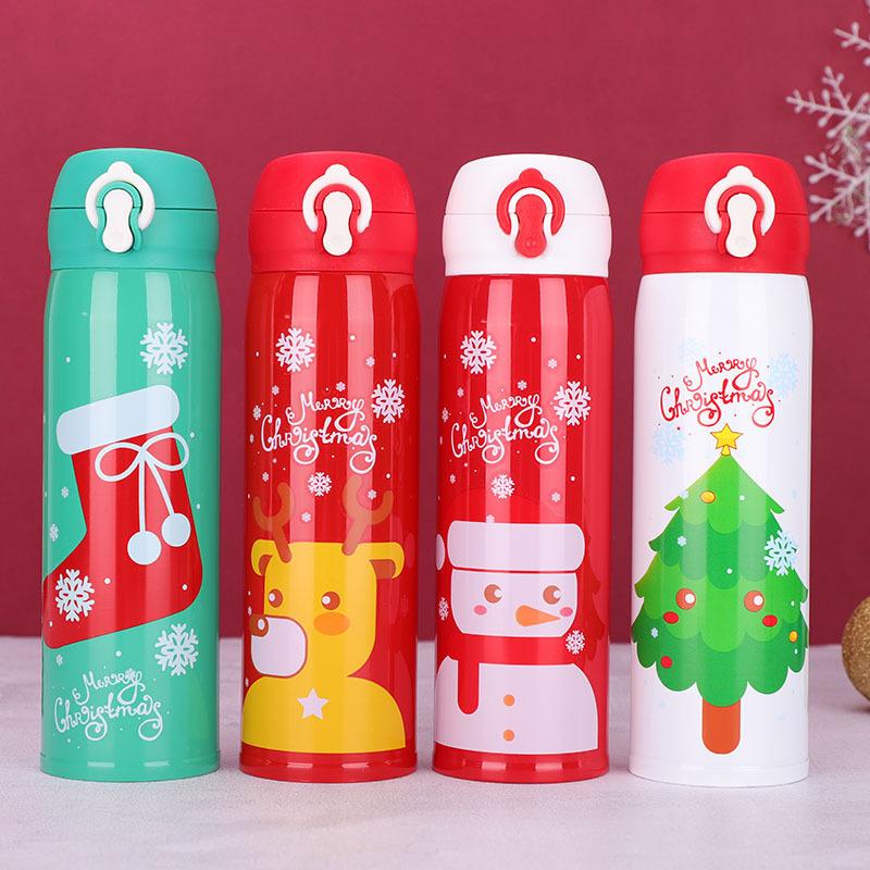 圣诞保温杯女ins可爱简约学生杯子