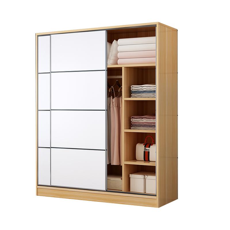 家用卧室简易收纳推拉门包安装衣柜评价如何