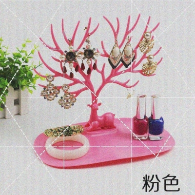 Earring rack womens new household products wall mounted photo window suede large capacity background wall exhibition Jewelry Necklace
