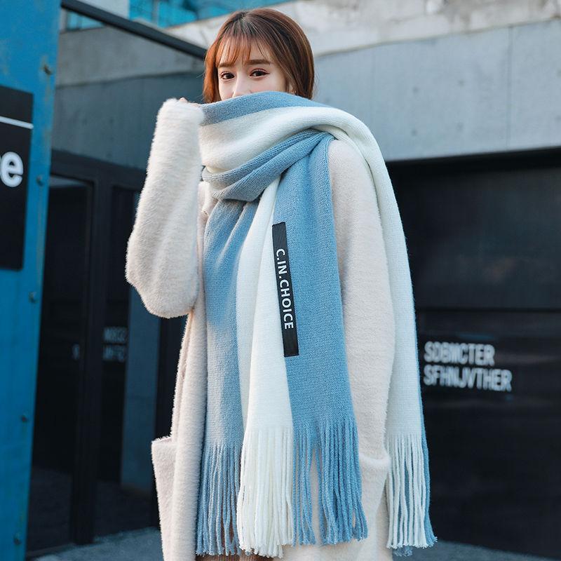新款围巾女冬季韩版百搭秋冬天学生可爱加厚情侣披肩女士网红围脖