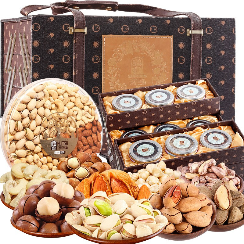 Zhenwei nuts and dried fruit gift box imported nuts leisure snacks gift bag spring festival company welfare group purchase gift