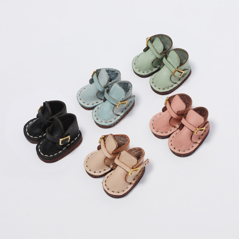 Ob11 shoes ob11 clothes handmade leather boots gaobang shoes P9 solid GSC 12 points BJD baby