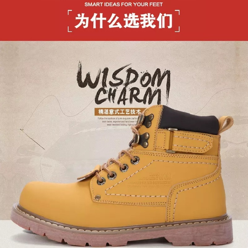 Cat mens shoes high help Martin boots card secret service shoes casual leather short boots ventilation autumn and winter outdoor work wear boots