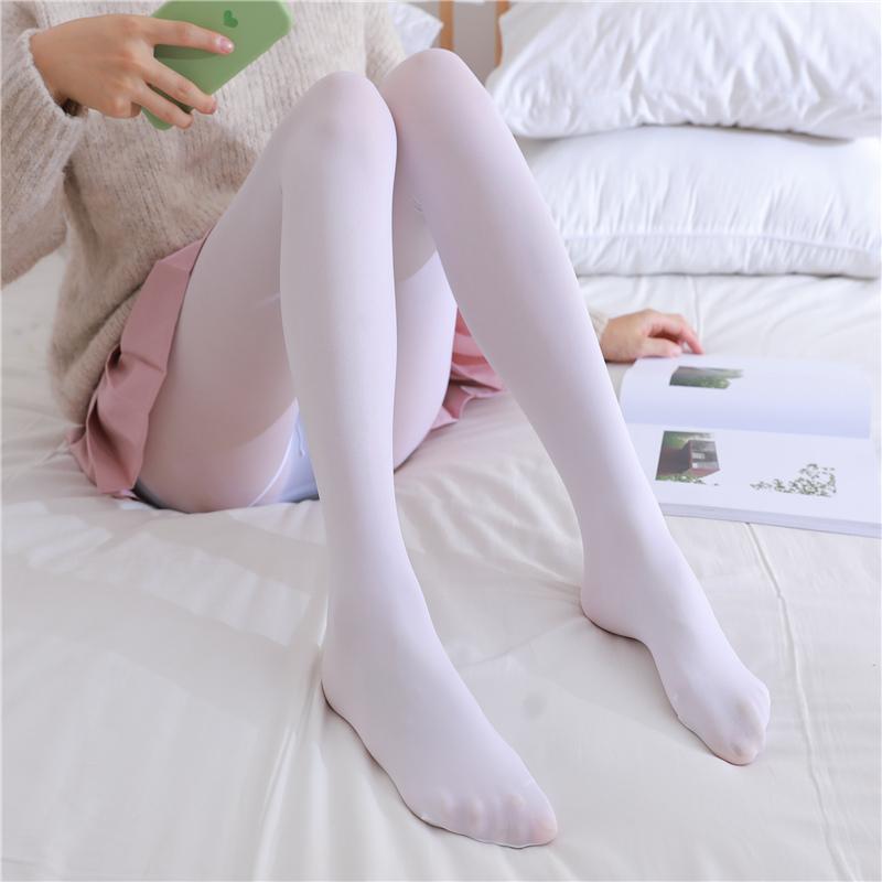 白丝袜日系袜子薄款萝莉学生白色打底连裤袜