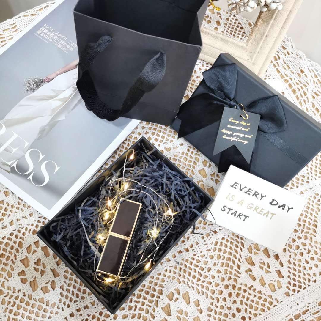 口红礼品盒韩版ins风大号化妆品包装盒空盒生日创意礼盒礼物盒子