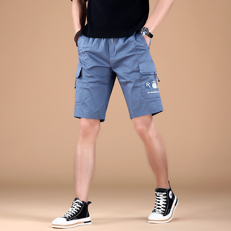 Summer 2021 shorts, slim fit trend of Korean version, 5-point sports pants, mens thin style, new legged casual pants, breathable