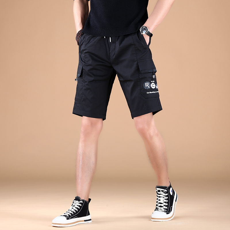 Sports Korean shorts summer five point thin slim fit new bodyguard pants 2021 casual pants trend breathable mens Leggings