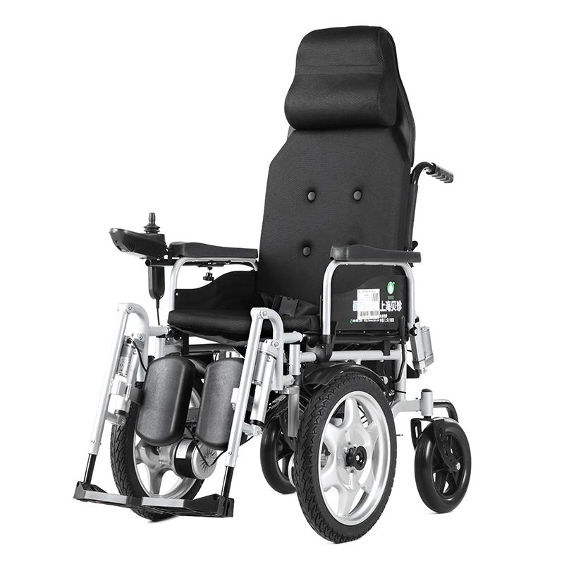 上海电动轮椅老人年代步车残疾智能全自动可躺锂电池折叠6303