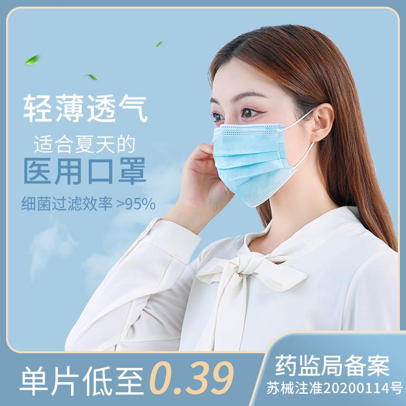医疗一次性儿童医用口罩三层小孩成人透气医护用口罩女童医生专用