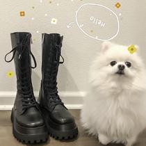 AZ421DD0冬新款商场同款厚底酷感休闲靴厚底2020天美意短靴女加绒
