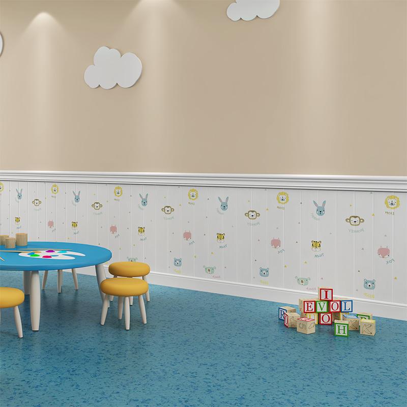 自粘3d立体泡沫墙贴卡通卧室温馨墙纸儿童房装饰软包防撞防水壁纸