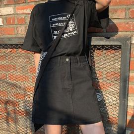 2020夏季大码半身裙胖妹妹显瘦mm遮胯a字裙短裙高腰微胖女生穿搭图片